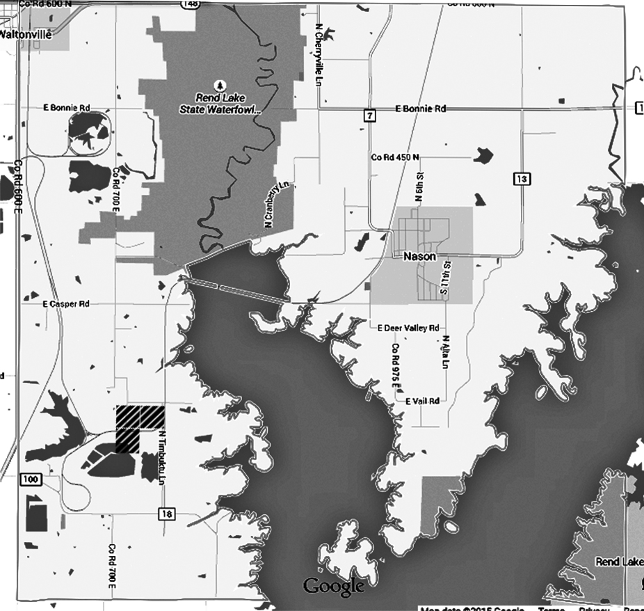 Illinois jefferson county waltonville - Map Of Elk Prairie Township Jefferson County Illinois The Three Hatched Squares At The Lower Left Are The Land First Acquired By Joseph Hartley In 1841